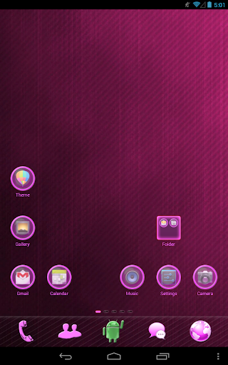 Pink Light GO Launcher Theme