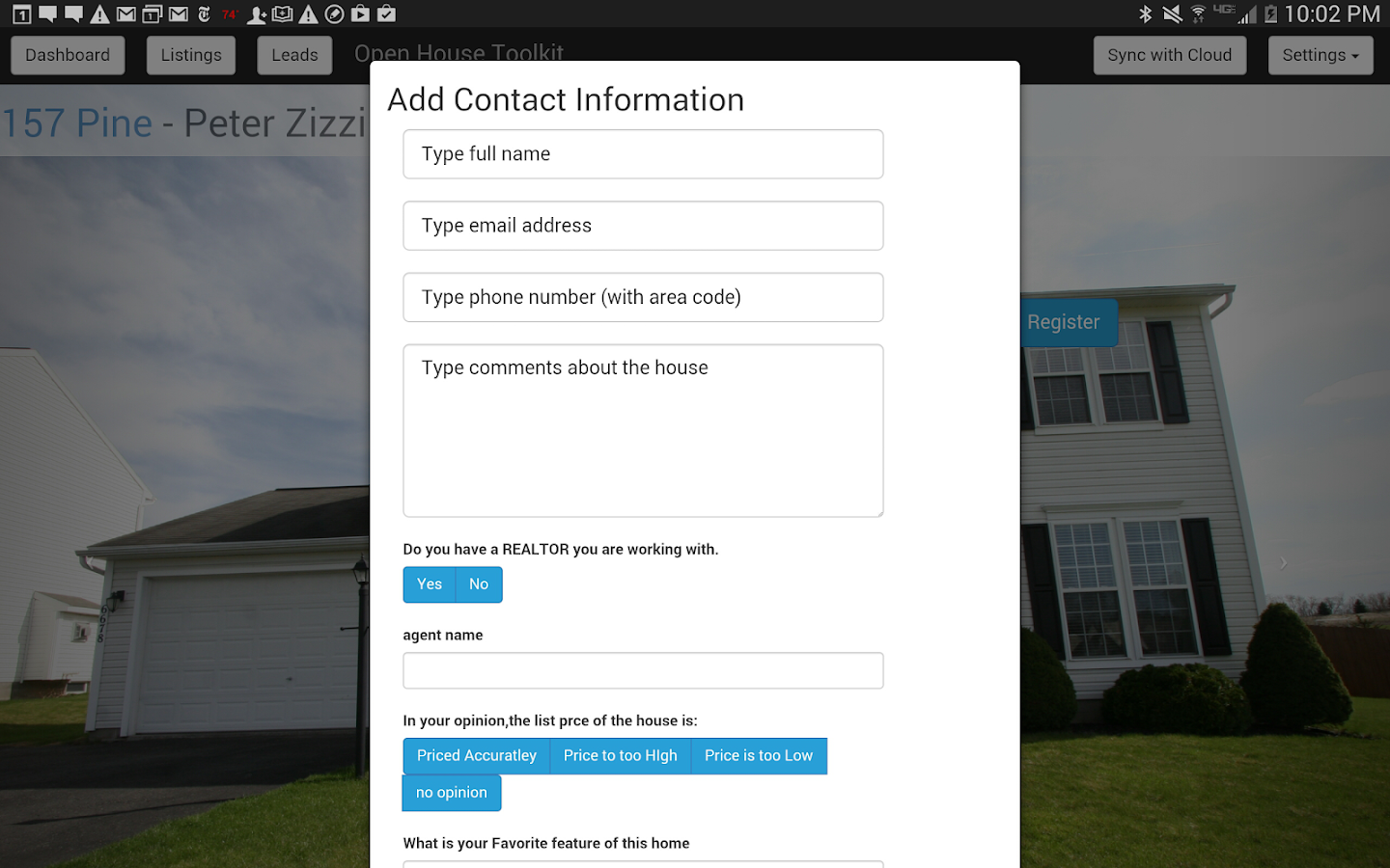 Open House ToolKit-Real Estate- screenshot