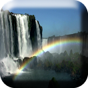 Waterfall & Rainbow Wallpaper icon