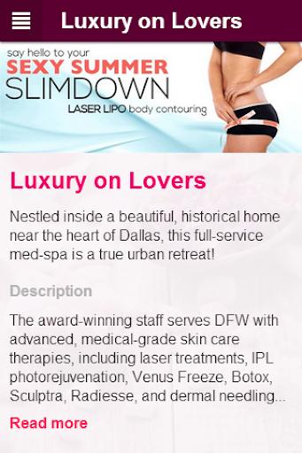 LUXURY ON LOVERS: Adv. Med-Spa