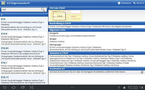 ICD-10 Diagnoseauskunft- screenshot thumbnail