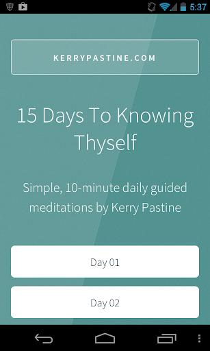 Know Thyself Meditations Full