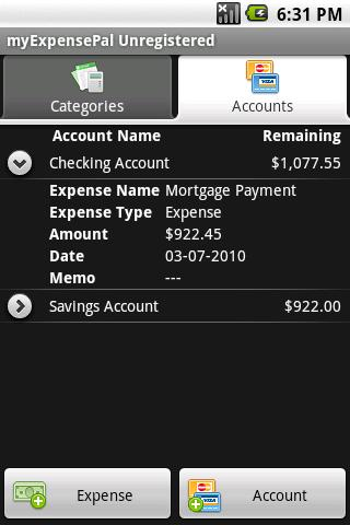 myExpensePro Free - screenshot
