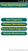 Screenshot of Your Rapid Diagnosis