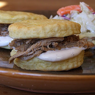Alabama Pulled Pork Sandwiches with White Barbecue Sauce