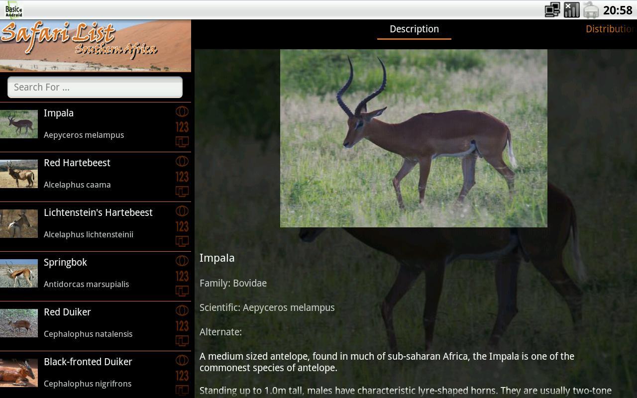 Safari List HD - South Africa- screenshot