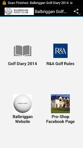 【免費運動App】Balbriggan Golf Diary 2014-APP點子