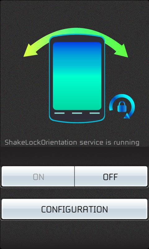 Shake - Lock Orientation - screenshot