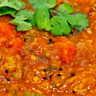 Red Lentils with Bagaar Spiced Turkey.