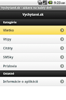 Screenshot of Vychytane.sk