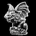 Gargoyle right sticker logo