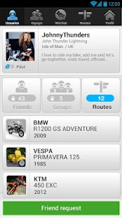 WeRide;Motorcycle,routes,chats - screenshot thumbnail