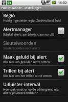 Screenshot of Police Scanner