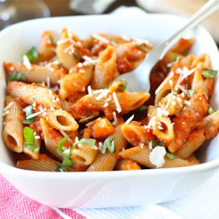 Pasta with Roasted Red Pepper Tomato Sauce