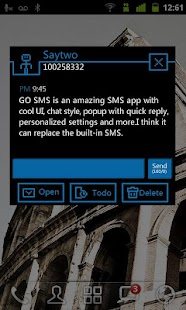 GO SMS Pro GO'S Theme - screenshot thumbnail