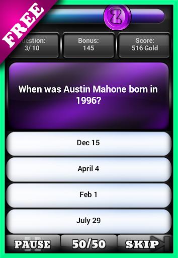 Fan Pop Quiz Austin Facts