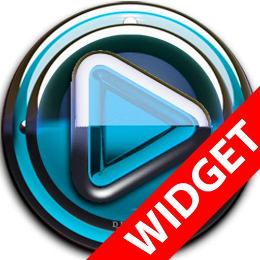 Poweramp widget Lightblue Glas LOGO-APP點子