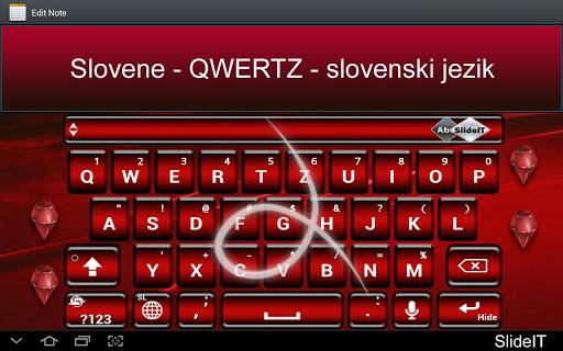 SlideIT Slovenian QWERTZ Pack