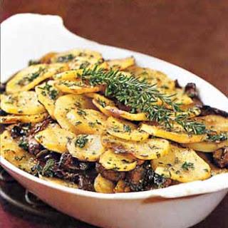 Potato and Portobello Mushroom Gratin.