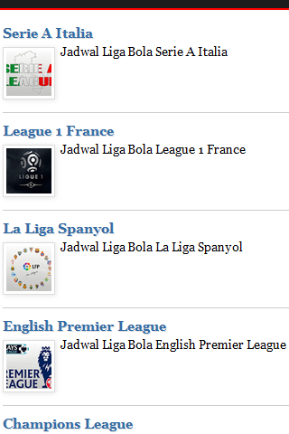Jadwal TV Liga Bola Lengkap