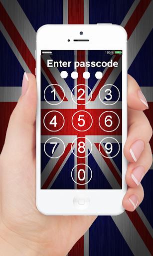 英國國旗銷屏幕鎖定