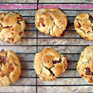Dark Chocolate Caramel Pecan Cookies
