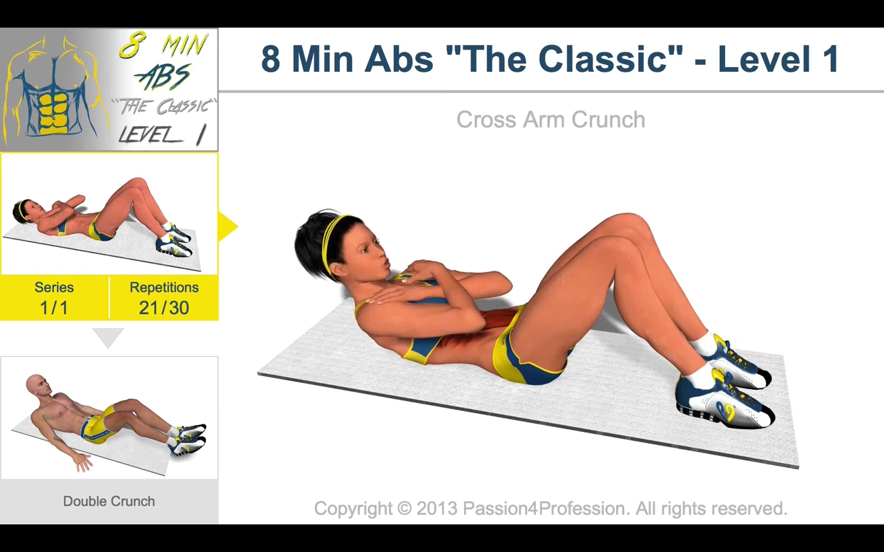 8 Minutes Abs Workout- screenshot