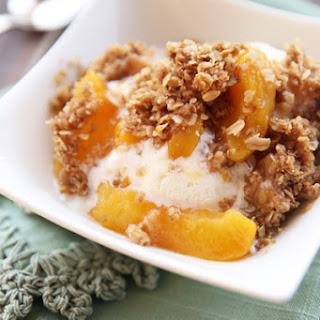 Fresh Peach Crisp.