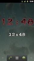 Screenshot of Horror Digital Clock Widget
