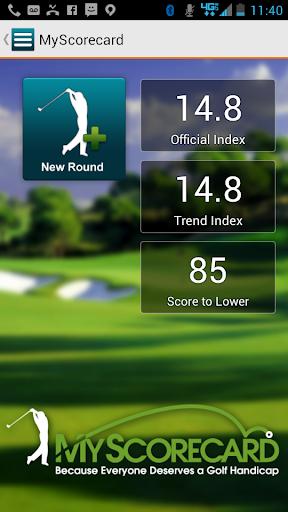 MyScorecard Golf Score Tracker