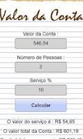 Screenshot of Calcula Conta Restaurante