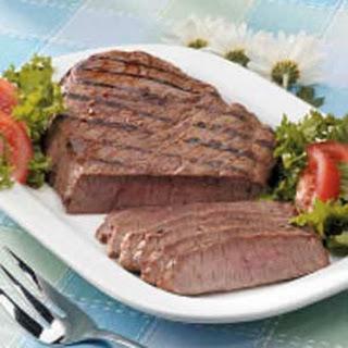 Marinated Steak.