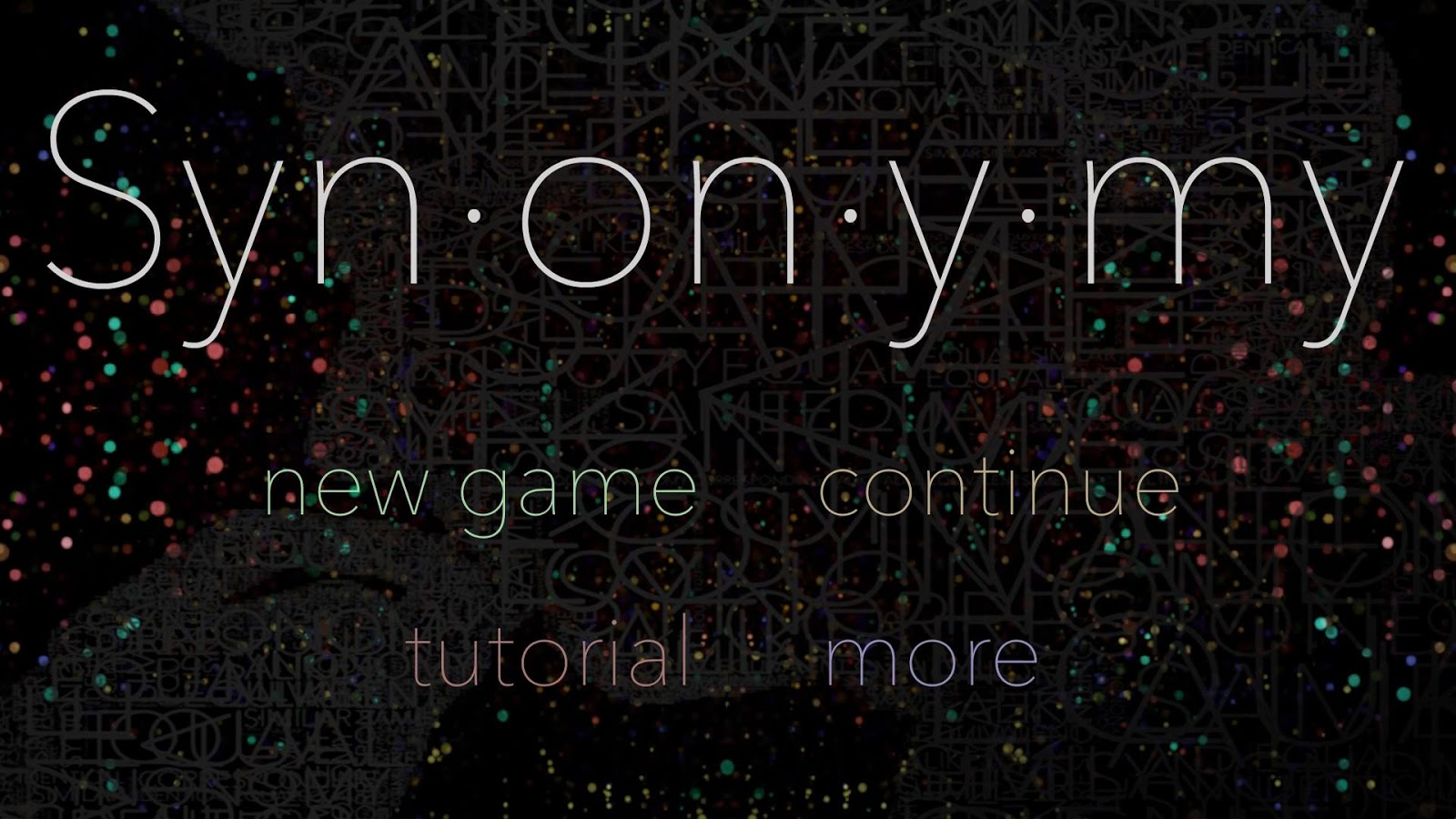 Synonymy- screenshot