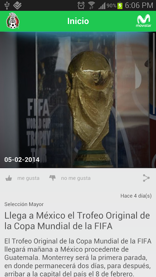 Selección Mexicana Oficial - screenshot