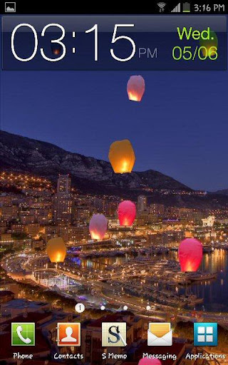 Colorful Flying Paper Lanterns