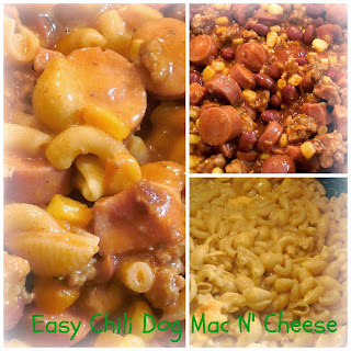 Easy Chili Dog Mac N' Cheese