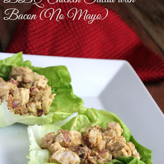 BBQ Chicken Salad with Bacon {No Mayo}.