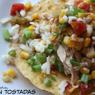 Sweet Corn Chicken Tostadas