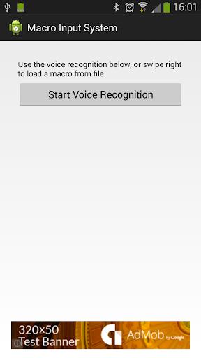 Bluetooth Macro Voice input