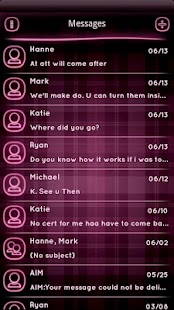PINK Plaid Neon GO SMS Theme - screenshot thumbnail