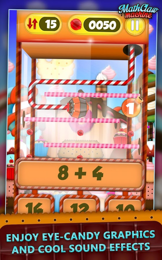 Math Claw Machine: Sweet Games - screenshot