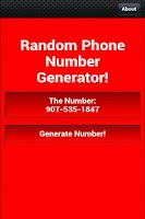 Screenshot of Random Phone Number Generator