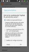 Screenshot of Mitt Schema (skolschema)
