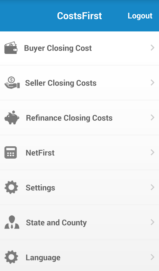 CostsFirst- screenshot
