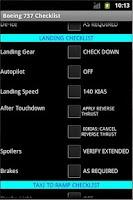 Screenshot of Boeing 737 Checklist