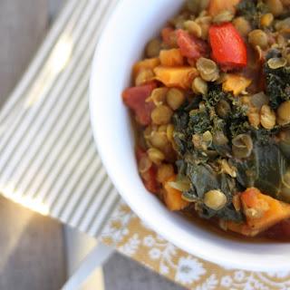 Lentil, Kale, and Sweet Potato Stew