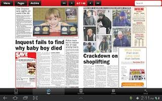 Screenshot of Sunderland Echo