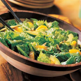 Romaine Salad with Mandarins and Asian Dressing.