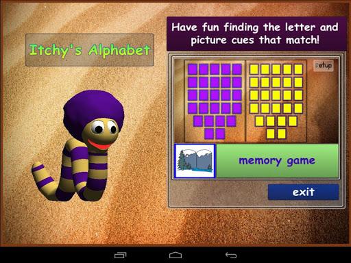 Itchy's Alphabet Memory Lite