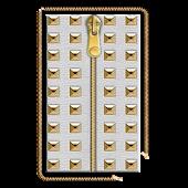 Gold Stud Zipper Screen Lock